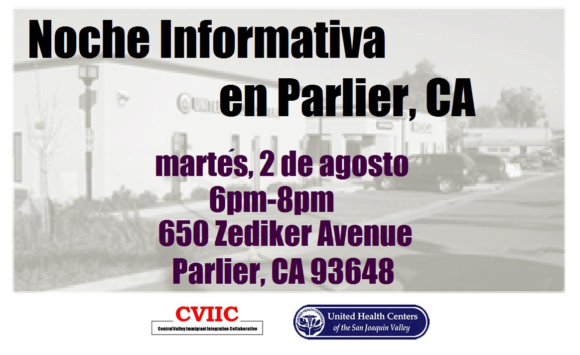 Noche Informativa en Parlier CA