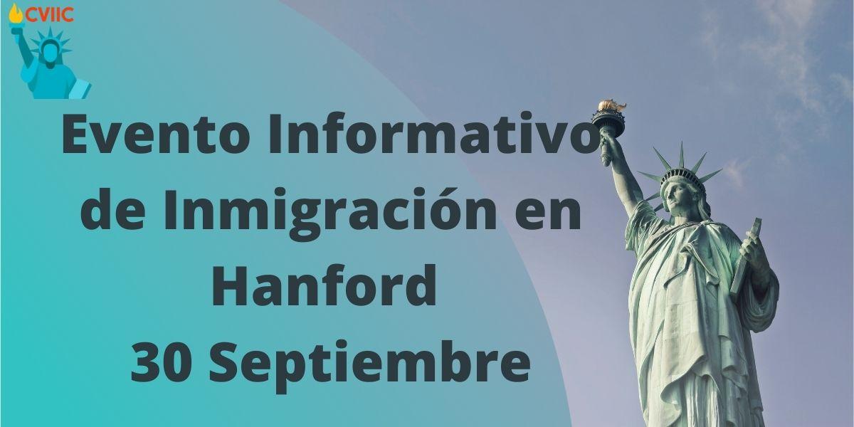 Evento Informativo de Inmigración en Hanford 30 Septiembre